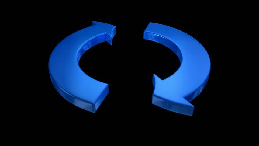 Arrow loop with matte | Shutterstock HD Video #2248567