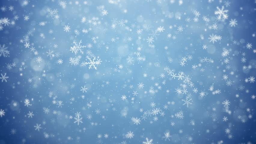 Falling snowflakes, snow background.Animation.