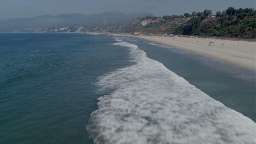 Aerial of Santa Monica California