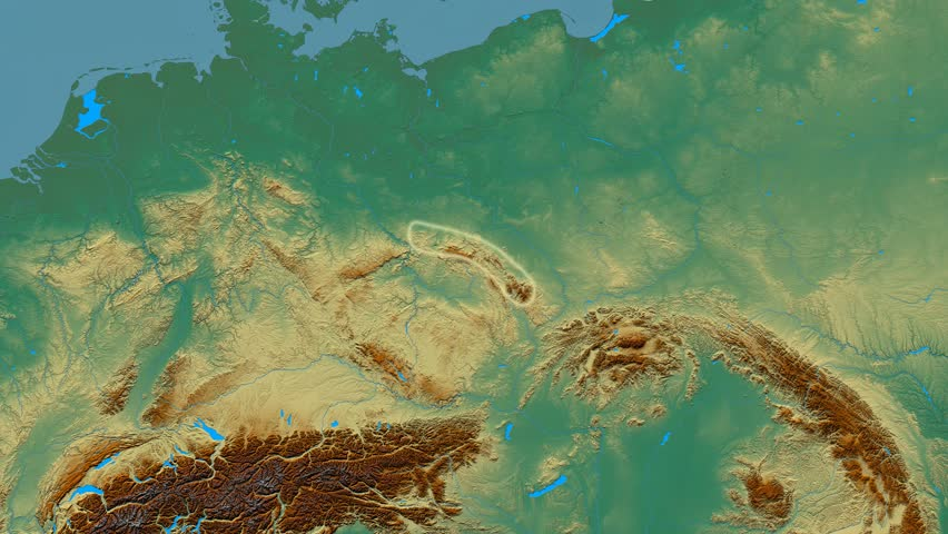 Zoom Into Sudetes Mountain Range Masks Relief Map High - Aster gdem free download