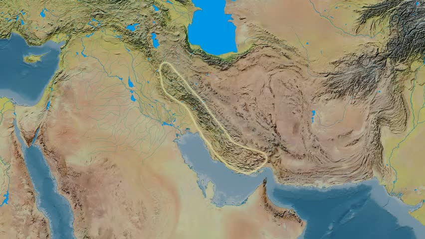 Zoom Into Zagros Mountain Range Glowed Natural Earth High - Aster gdem free download