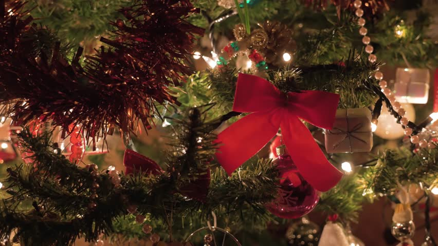 Christmas Tree Decorations Baubles And Stock Footage Video 100 Royalty Free 22617187 Shutterstock