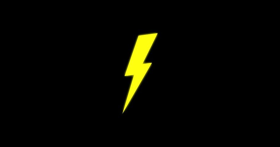 High Voltage Sign With Shaking Lightning. Animation With ...  High Voltage Si...
