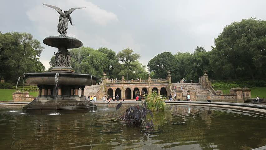 Bethesda Fountain Looking Towards Pedestrian Stock Footage Video (100%  Royalty-free) 2270897   Shutterstock