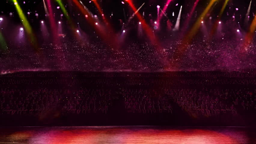 Concert of red color spotlight  | Shutterstock HD Video #2274368