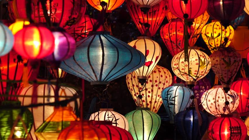 HOI AN, VIETNAM - JAN 09, 2016: Handcrafted lanterns in ancient town Hoi An, Vietnam.