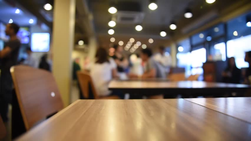 Restaurant Background With People blurred background of restaurant and coffee shop with vintage