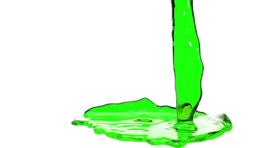 green liquid fills the Screen. Water surface waving. 3D render 9