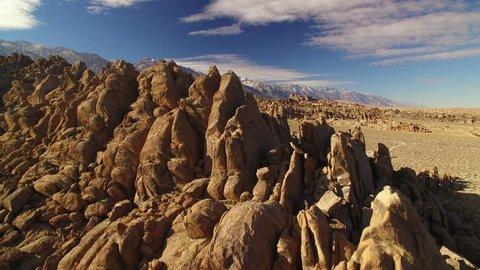 Sierra Nevada Mts Aerial 22 Winter