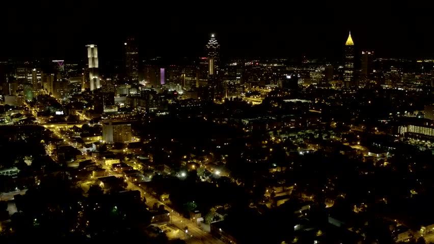 Downtown Atlanta From A Distance Stock Footage Video - Distance to atlanta georgia