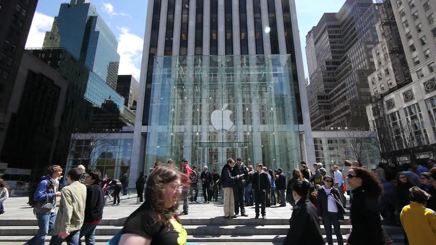 NEW YORK - CIRCA May 2011: Apple Store on 5th Avenue in New York City