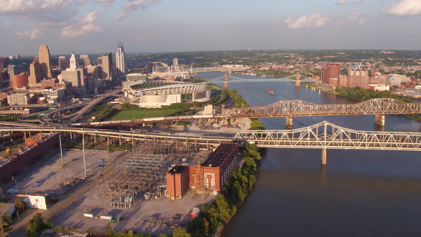 Aerial view of Cincinnati, Ohio | Shutterstock HD Video #23013817