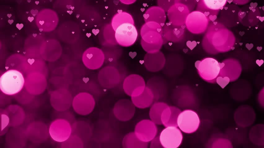 Valentines Day Falling Hearts Pink Background Stock Footage Video ...