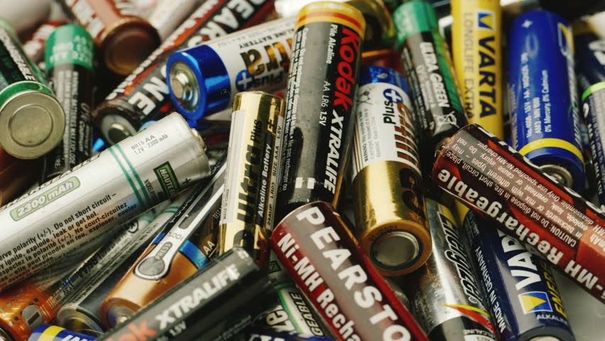Poltava, Ukraine, DEC 2014: Penlight batteries - need for recycling
