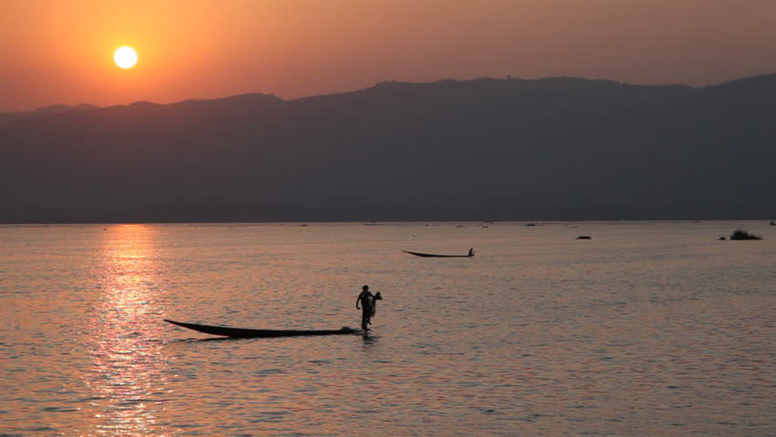 Inle lake sunset, Myanmar
