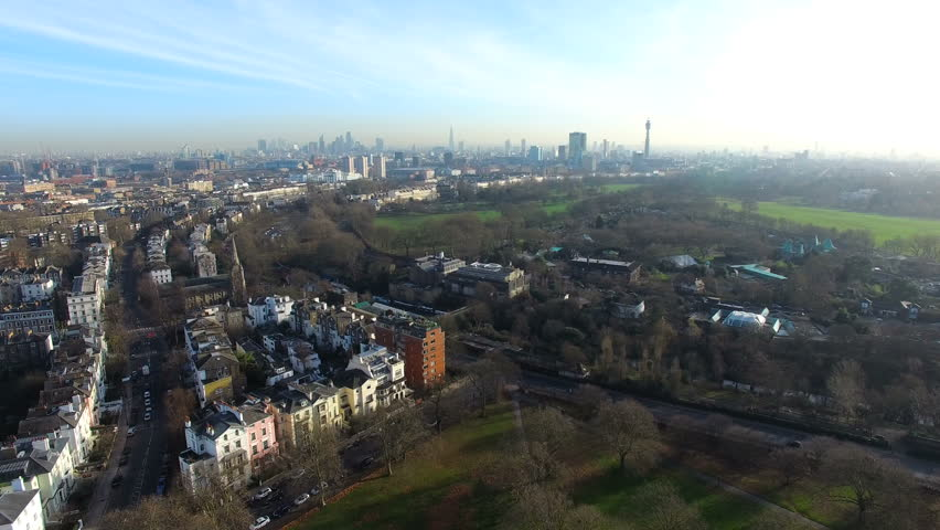 Aerial view of beautiful park and London city | Shutterstock HD Video #23096137