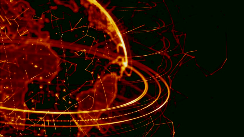 3d animation of a growing network across the world - red version. HD | Shutterstock HD Video #23133157