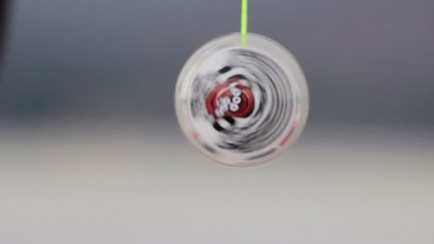 Slow close up shot of a yo-yo being used. (Santiago, Chile - May 2016)