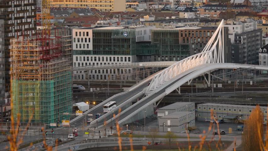 Shot of Acrobat-Broen from ekeberg in Oslo, Norway