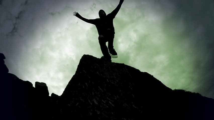 Twixtor Super Slow-Mo Jump Off Rocks
