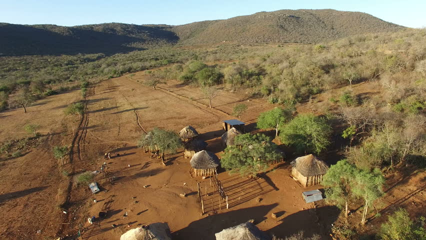 Small african village from above