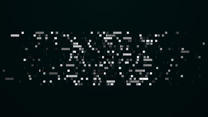 Data mining moving, abstract squares background