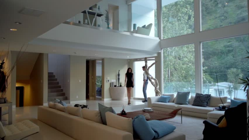 Love couple in the modern / contemporary , luxury house in Beverly Hills