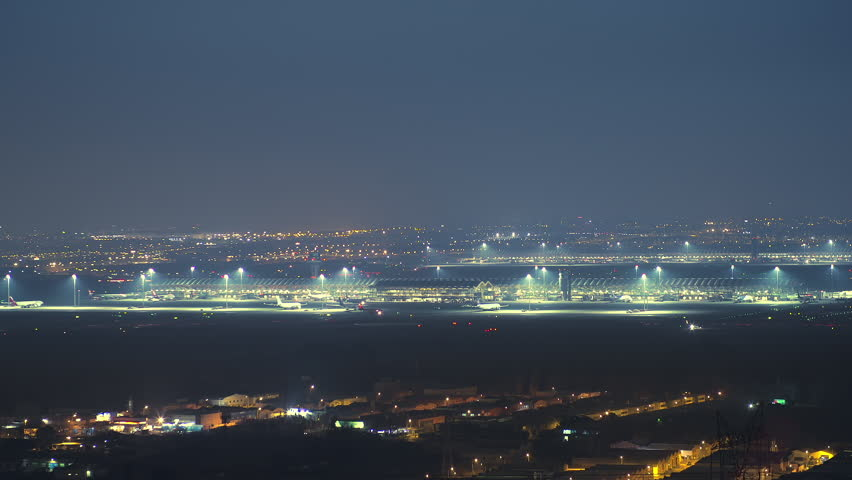 Madrid Barajas airport timelapse | Shutterstock HD Video #23373967
