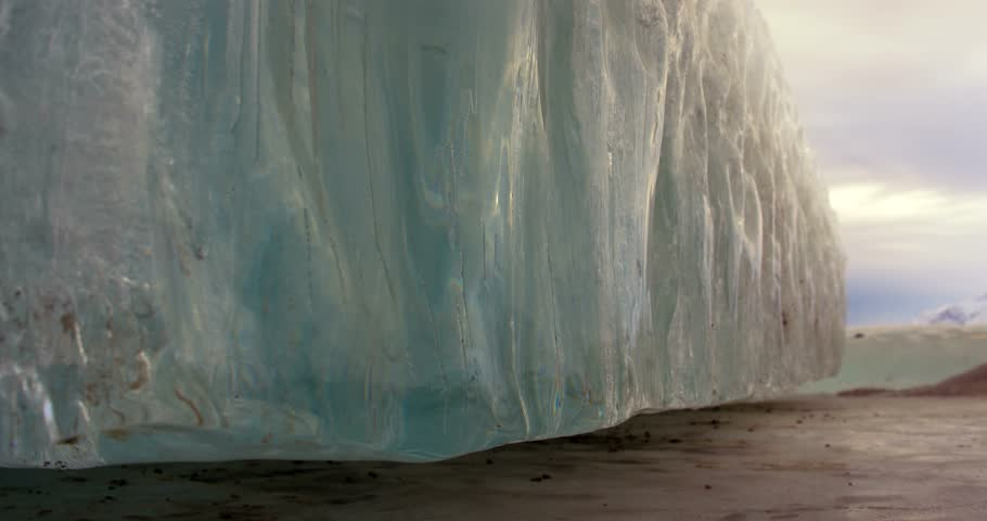 Ice Wall Massive Monolith Low Angle Dolly Scenic