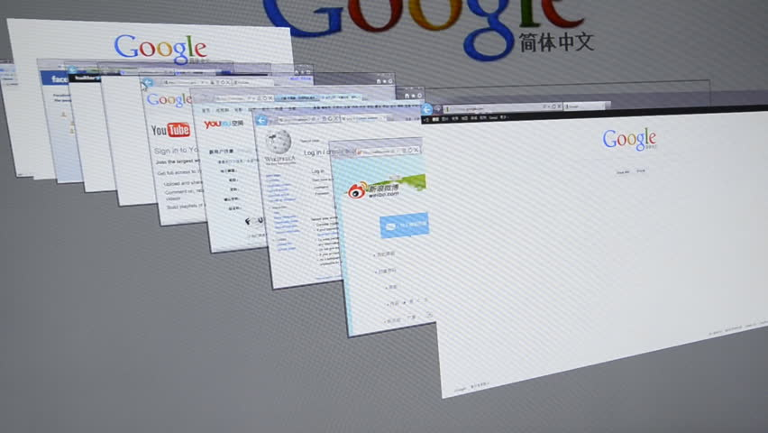 GUANGDONG, CHINA -  MARCH 26: Screen displays popular social network websites (Google, Facebook, Twitter, Youku, Sina, weibo, Tudou, Wiki, Baidu, Youtube), March 26, 2012 in Guangdong. Facebook is now closing in on 1 billion users (800 million users claim