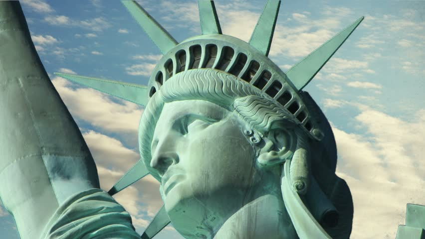The Head of the Statue of Liberty, Clouds Time Lapse. 4K | Shutterstock HD Video #23501947