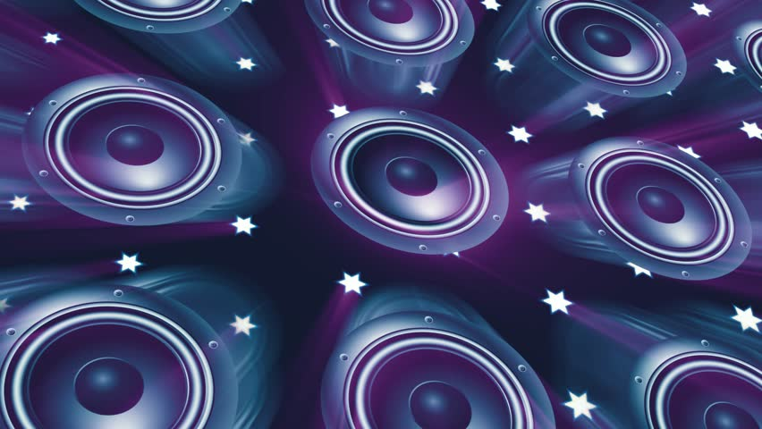 Disco dancing loud speakers abstract background | Shutterstock HD Video #23533417