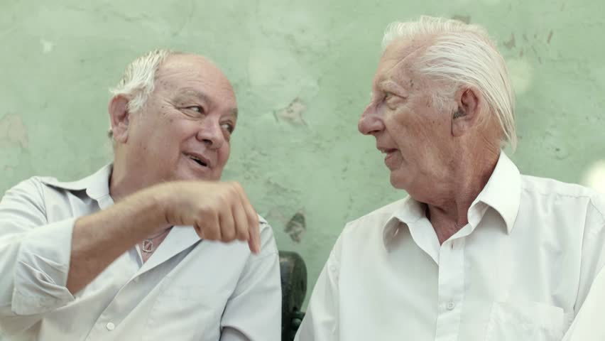 Stock Video Of Active Retirement With Old Friends, Two -2089