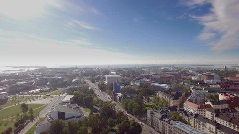 Helsinki sky view, summer