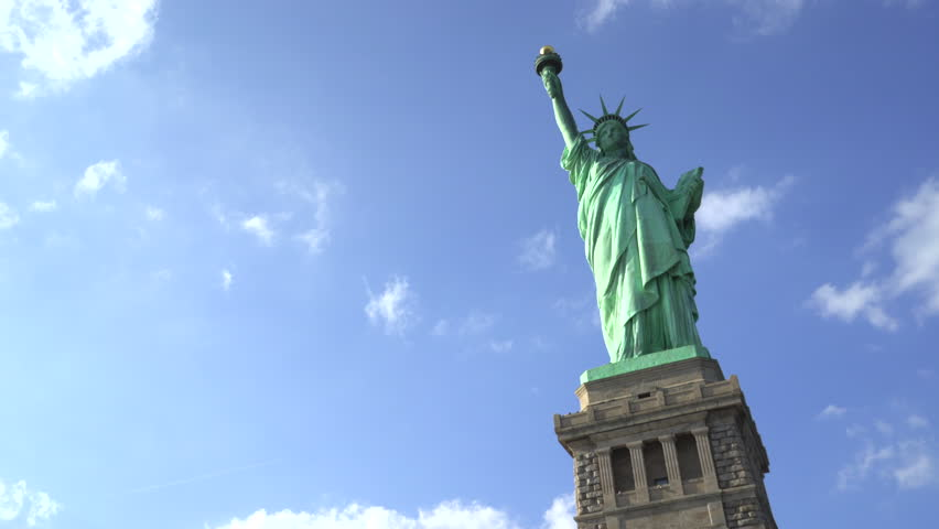 Statue of Liberty pan shot - New York City | Shutterstock HD Video #23643694