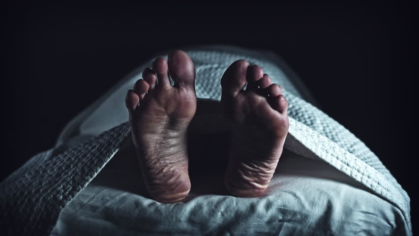 4K Morgue Dead Body, Mortician Place Blank Tag on Foot | Shutterstock HD Video #23679997