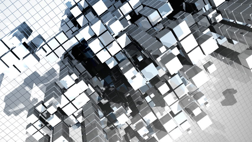 Abstract construction made of cubes, HD1080p | Shutterstock HD Video #237007