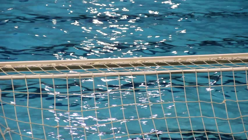 water polo goal hd stock footage clip - Olympic Swimming Pool Underwater