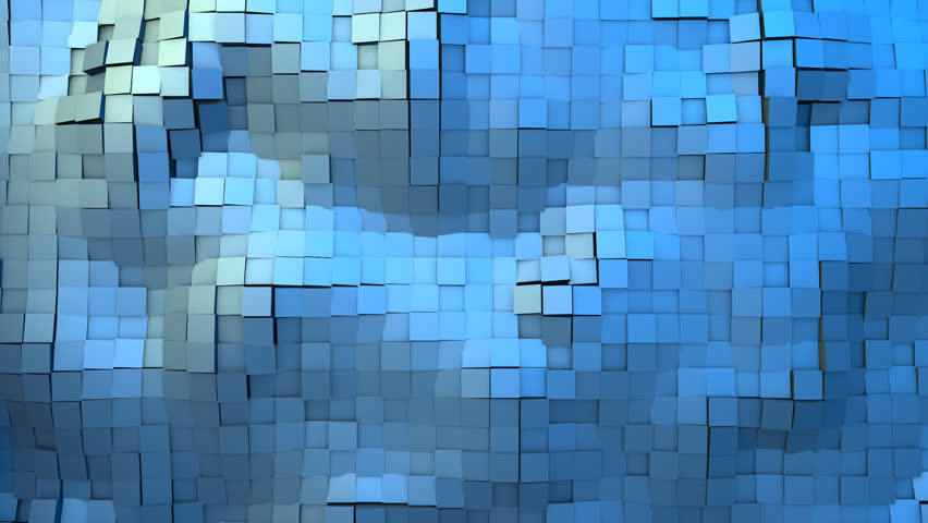 Ocean Waves of Animated Abstract Cubes
