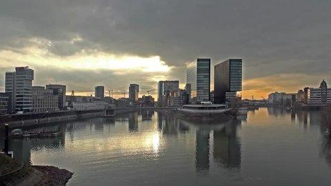 Skyline city of Duesseldorf, Germany
