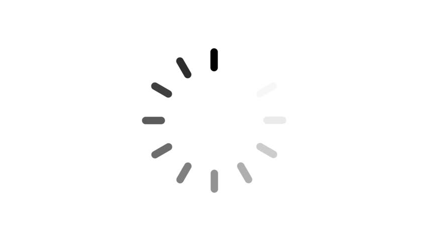 Animation - loading circle icon on white background with alpha channel. 4K video   Shutterstock HD Video #23804569