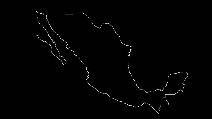 Mexico map outline animation | Shutterstock HD Video #23827357