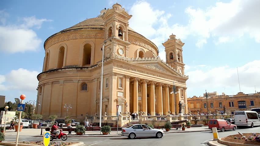 VALLETTA, MALTA - MAY 16, 2016: The Parish Church of the Assumption commonly known as the Rotunda of Mosta or the Mosta Dome on May 16, 2016 in Valletta, Malta