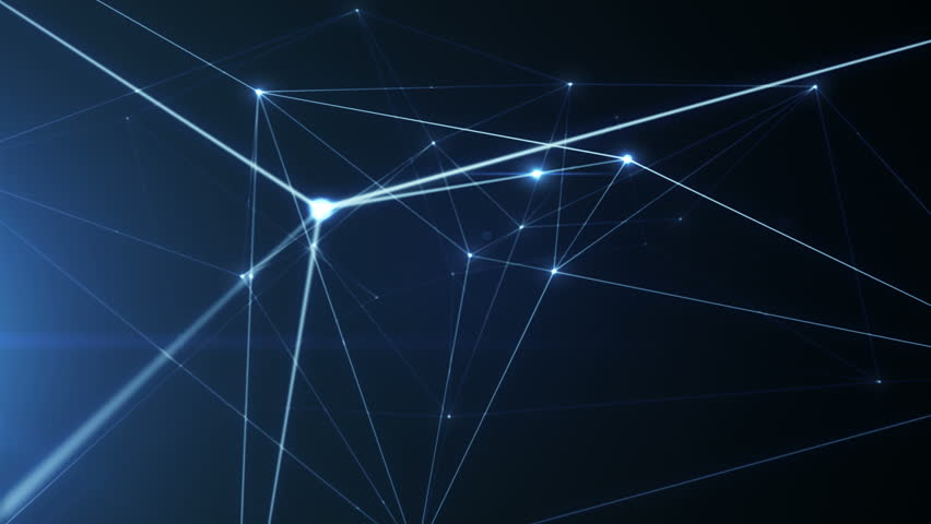 Growing network connections. An abstract background of internet communication or social media. Blue version. Seamless loop. Alpha channel included. 4K | Shutterstock HD Video #23855950