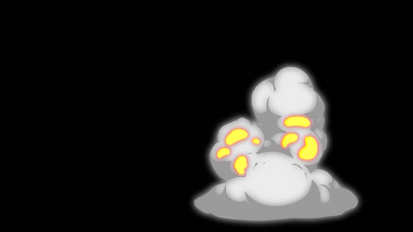 Cartoon Smoke Elements with glow effect and with out glow effect. Pre rendered with alpha channel with 4K resolution.