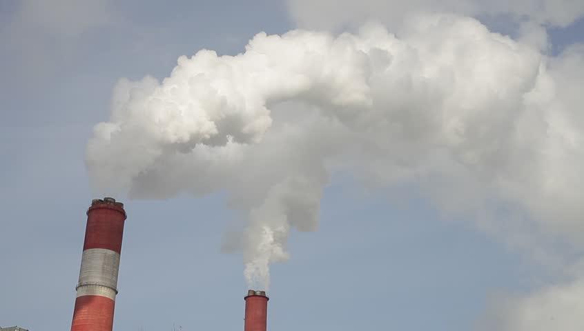 Environmental pollution. Smoke from trumpet. | Shutterstock HD Video #23888752