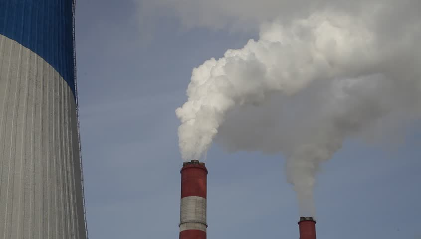 Environmental pollution. Smoke from trumpet. | Shutterstock HD Video #23888767