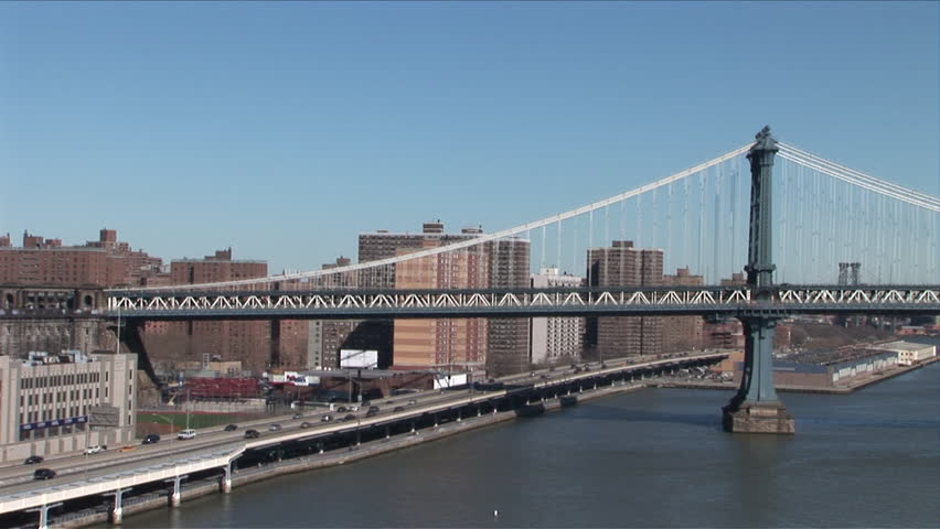 View of East River and bridge in New York United States #2394950