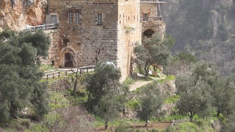 Qannoubine Monastery. Built on a cliffside in the Qadisha Valley the monastery served as a fortress for Maronite Patriarchs for 300 years.