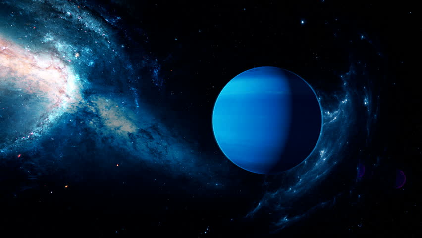 Realistic Beautiful Planet Neptune From Stock Footage